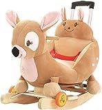 Ccgdgft Rocking Massivholz-Baby-Alter mit Musik Kleinen Schaukelstuhl Spielzeug Baby mit...