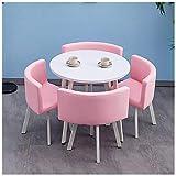 Gaohh Freizeittisch und Stuhl Kombination Empfangsraum Büro Hotel Tee Shop Lounge Balkon Kleiner...