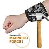 bulrusely Magnetisches Armband - Magnetarmband Handwerker Mit 15 Leistungsstarken Magneten, Vater...