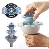KINJOHI 4 -teilig Kunststoff-Trichter Small Medium Large Variety Flüssigöl-Küchen-Set...