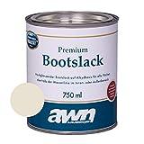 AWN 1K Bootslack Eine Komponente Lack fr Boot Rumpf UV Schutz Ergiebigkeit ca. 12 m/l (Creme RAL...