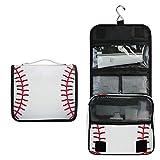BIGJOKE Kulturtasche zum Aufhängen, Sportball, Baseballdruck, tragbar, Kosmetiktasche,...