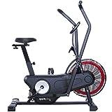 SportPlus Neuerscheinung 2020 Air Bike Indoor Heimtrainer Fahrrad Ergometer für Fitness, Spinning &...