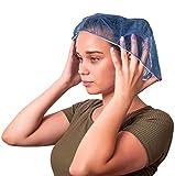 100 Stück dunkelblau Bouffant Caps 53 cm Haarkappen mit elastischem Stretchband Einwegmützen aus...
