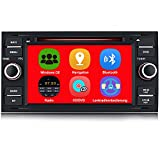 AWESAFE Autoradio mit Navi für Ford Focus, unterstützt Bluetooth Lenkradbedienung Mirrorlink CD...