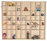LAUBLUST Großer Setzkasten aus Holz - ca. 52 x 46 x 5 cm, Natur, FSC® - Holz-Regal mit 51...