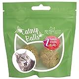 PRETTY KITTY 2X Katzenminze Ball handgerollt - Premium Catnip Bälle bestehend aus 100% natürlicher...
