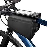 Nordlight Fahrrad Rahmentasche Wasserdicht mit Handyhalterung - (Schwarz) | abnehmbare Handytasche...