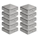 Pfostenkappen 7x7 cm - 10 Stück, 70x70 mm, Zaunpfosten Metall/Zaunpfosten verzinkt, Pyramiden Form...