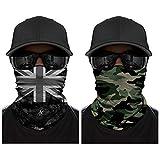 ECOMBOS Multifunktionstuch Kopfbedeckung Nahtlos Atmungsaktiv Sport Reiten Sonnencreme Headwrap...