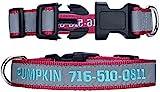 Personalisierbares Hundehalsband, reflektierendes Hundehalsband mit Haustiernamen und Telefonnummer,...