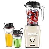 Standmixer, HAUSWIRT Smoothie Maker, 30.000 U/Min, 2x Tritan-Trinkbecher, BPA frei, Tritan Mixer...