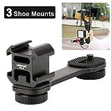 Sutefoto PT-3 Triple Cold Shoe Mounts Plate, Mikrofon Led-Videolicht-Erweiterungsstand Kompatibel...
