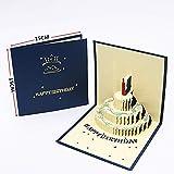 Handgefertigte 3D Grußkarte Happy Birthday Lover Anniversary New Year Einladungen Kuchen Postkarte...
