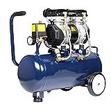WUK Ölfreier Luftkompressor Tragbare 30L Luftpumpe Leise (65dB) 550/750/980 W Heimluftkompressor...