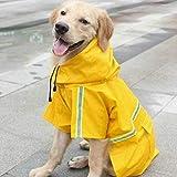 zzyysd Hund Regenmäntel wasserdichte verstellbare Regenjacke mit Kapuze für kleine mittlere und...