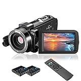 Videokamera Camcorder, MELCAM 1080P 30FPS Vlogging Kamera für YouTube, Full HD IR Nachtsicht...