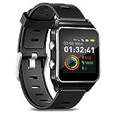 Smartwatch Fitness Armbanduhr Pulsuhren Fitness Uhr mit IP68 wasserdicht Smart Watch GPS Sportuhr 17...