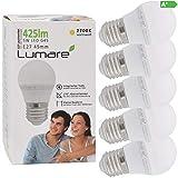 Lumare LED Lampe Energiesparlampe E27 G45 5er Set LED Birne 5 Watt 425 Lumen Leuchtmittel ersetzt 40...