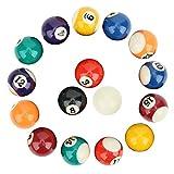 Billard Pool Balls Set, 16 Stück Umweltfreundliches Polyesterharz 38 mm Kinder Billardkugel...