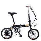 MIKEWEI Tragbares Klapprad, 35,6 cm (14 Zoll) Räder, für Erwachsene und Kinder, für Damen und...