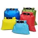 Qinmo Segelzubehör 5 Stück wasserdichte Tasche Set Speicher Roll Top Dry Bag Set for Skating...