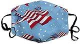 Micronesia-Flagge mit Amerika-Flagge Mundmaske Unisex Gesichtsmaske Anti-Staub Baumwolle...