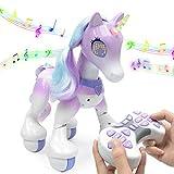 XIAMUSUMMER Einhorn Roboter drahtlose Fernbedienung Kinder intelligente Spielzeug sprechen Pferd...