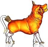Hund Geformt Glas Wein Karaffe, 1000ML Wein Karaffe Flasche, Tierkreis Tier Gestalten Hoch BOR Glas...