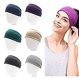 6 Stück Haarband Damen-Elastisch Baumwolle Breit Haarreifen,Sport Yoga Haarbänder Workout...