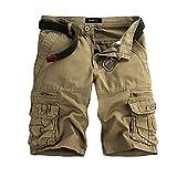 Cargohose Herren Kurz Sporthose Shorts mit Multi-Taschen Outdoor Lässige Sommer Kurze Cargo Hosen...