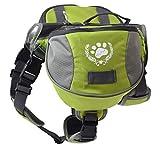 blackgoddy Hund Rucksack verstellbar Pack Satteltasche Stil Hund Zubehr fr Wandern Camping Reise (L)