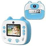 DragonTouch Sofortbildkamera für Kinder, Instant Print Kamera mit Druckpapier, Doppelkamera mit...