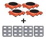 UPP Mbel-Gleitsystem Gooloo 8 tlg. Zusatz-Set mit Trolleys inkl. Teppichgleiter | Professionelles...