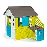 Smoby 810711 – Pretty Haus - Spielhaus für Kinder für drinnen und draußen, mit Küche und...