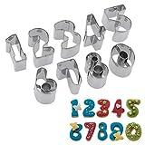 Westmark Keks-Ausstechformen-Set, 9-tlg, Zahlen 0-9, Länge: 2,5 cm, Rostfreier Edelstahl, Silber,...
