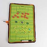 YZHY Fußball Taktisch Brett,Taktisches Trainer-Brett,Coach-Board...