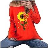 Floweworld Damen Sweatshirt Herbstmode Normallack Niedliche Katze Bedrucktes T-Shirt Langarm...