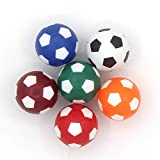 COSDDI 6 Pieces Table Football Soccer Balls 32/36 mm Table Football Mini Ball Coloured Table...