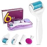 DermaRoller Aiglam 6 in 1 Derma Roller Wirksam bei Akne, Falten und Anti-Aging, 0.25/0.5/1mm Derma...