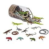 Terra 60-teilig Tierfiguren Sammlung Reptilien und Amphibien Spielzeug Set – Schlangen, Frösche,...