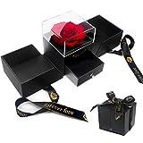 E-MANIS Schönheit und das Biest Rose Handgemachte konservierte Rose Schmuck Geschenkbox Nie...