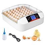 pedy Inkubator, Vollautomatische Brutmaschinen für Geflügel bis 55 Hühnereier, Brutgeräte mit...
