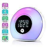 Lichtwecker mit Bluetooth Lautsprecher, ZOTO Wake Up Licht Kinderwecker mit LCD Display, 5...