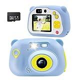 Veroyi 32GB Kids Camera 15.0MP wiederaufladbare Digitale Kamera vorne und hinten Selfie-Kamera Kind...