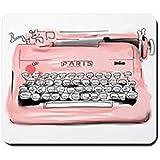 KKs-Shop Mauspad aus Gummi, rutschfest, für Paris-Schreibmaschine, Gaming-Mauspad