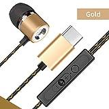 USB C Kopfhörer, Typ C Wired Kopfhörer Subwoofer Metall Universal-Mikrofon Einstellbarer Ton...