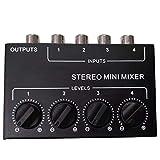 PQZATX Cx400 Stereo RCA 4-Kanal Passiv Mixer Klein Mixer Mixer Stereo Dispenser für Live und Studio