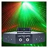 ZhanMa Discolicht Partylicht - Partei-Licht, Farbe 6 Spitzen-Scan-Linienstrahl DJ Bühne...
