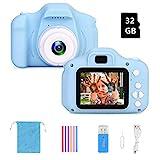 F Kinderkamera Digital Kamera Mini Kamera Kinder Spielzeug 2.0 Zoll Bildschirm Kamera Video Spiel...